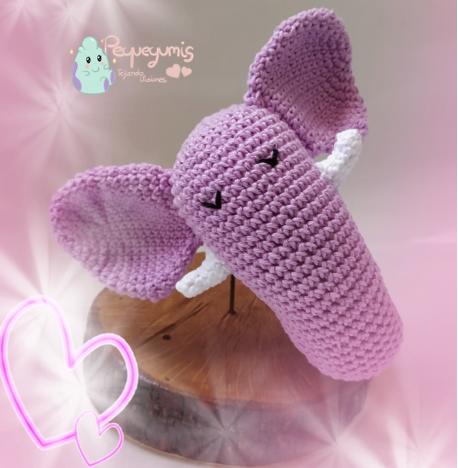 Jouet éléphant bébé Amigurumi crochet / Sonajero elefante crochet ... | 468x458